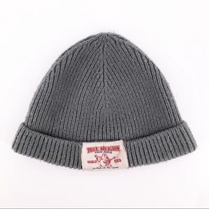 🔵 3 for $18 🔵 TRUE RELIGION Gray knit beanie